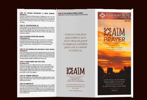 Prayer Calendar June 2020