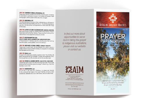 Prayer Calendar July 2021