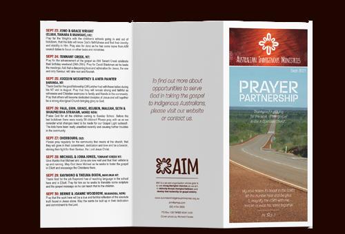 Prayer Calendar September 2021